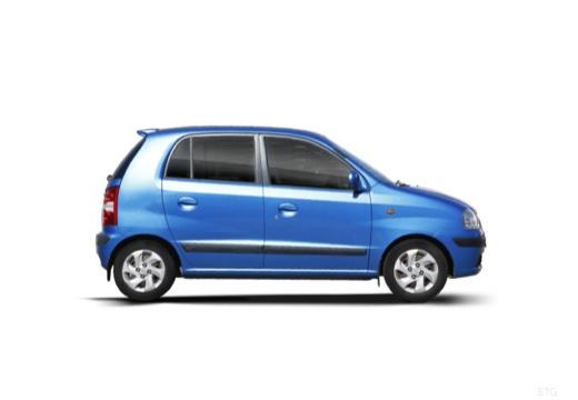 HYUNDAI Atos Prime III hatchback niebieski jasny boczny prawy