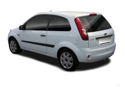FORD Fiesta VI hatchback biały tylny lewy
