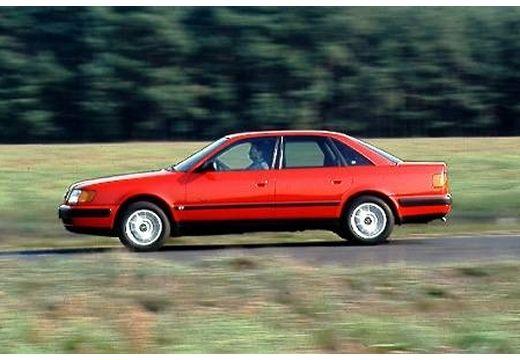 AUDI 100 C4 sedan czerwony jasny boczny lewy