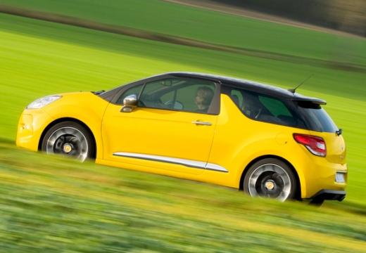 CITROEN DS3 hatchback żółty tylny lewy