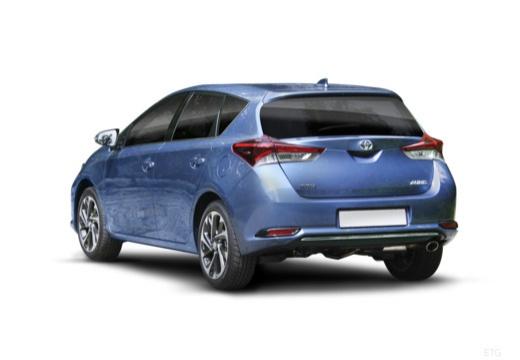 Toyota Auris II hatchback niebieski jasny tylny lewy
