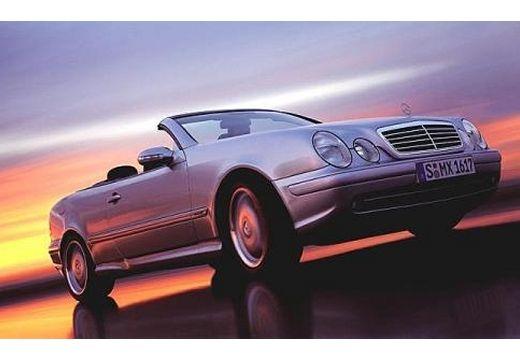 MERCEDES-BENZ Klasa CLK kabriolet silver grey przedni prawy