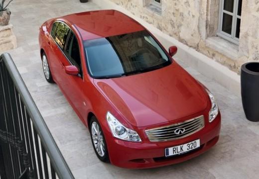 INFINITI G35 sedan czerwony jasny przedni prawy