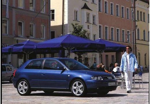 AUDI A3 /S3 8L II hatchback niebieski jasny przedni prawy