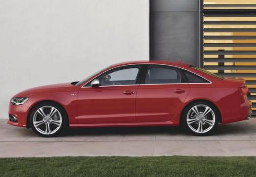 AUDI A6 sedan czerwony jasny boczny lewy
