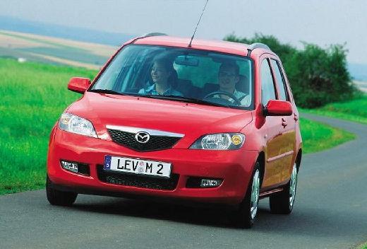 MAZDA 2 hatchback czerwony jasny przedni lewy