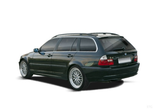 BMW Seria 3 Touring E46/3 kombi czarny tylny lewy