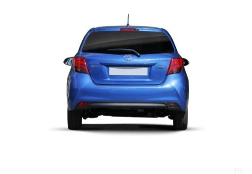Toyota Yaris hatchback niebieski jasny tylny
