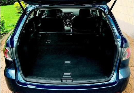MAZDA 6 Sport II kombi niebieski jasny przestrzeń załadunkowa