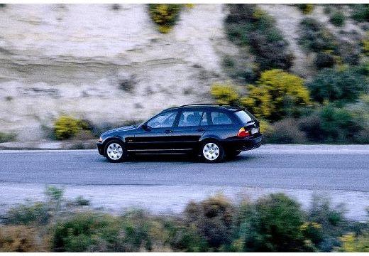 BMW Seria 3 kombi czarny boczny lewy