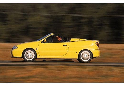 RENAULT Megane Cabrio I kabriolet żółty boczny lewy