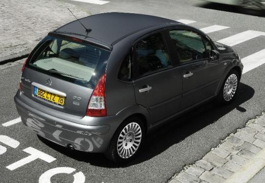 CITROEN C3 II hatchback szary ciemny tylny prawy