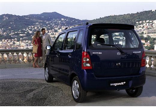 SUZUKI Wagon R+ II hatchback niebieski jasny tylny lewy