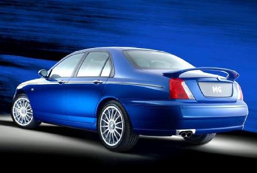 MG ZT sedan niebieski jasny tylny lewy