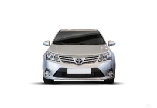 Toyota Avensis sedan silver grey przedni