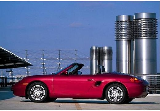 PORSCHE Boxster 986 roadster fioletowy boczny lewy