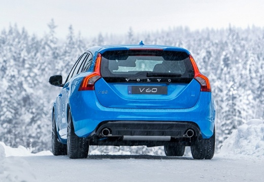VOLVO V60 II kombi niebieski jasny tylny