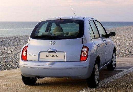 NISSAN Micra VII hatchback niebieski jasny tylny prawy