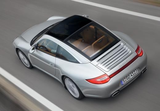 PORSCHE 911 997 coupe silver grey tylny lewy