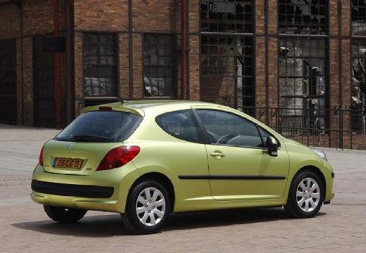 PEUGEOT 207 I hatchback zielony jasny tylny prawy