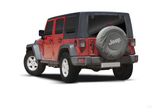 JEEP Wrangler IV soft top czerwony jasny tylny lewy