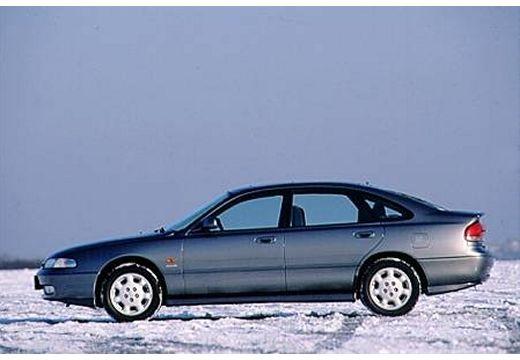 MAZDA 626 hatchback silver grey boczny lewy