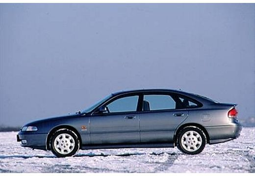 MAZDA 626 III hatchback silver grey boczny lewy