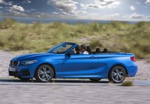 BMW Seria 2 Cabrio F23 I kabriolet niebieski jasny boczny lewy