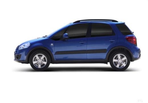 SUZUKI SX4 II hatchback niebieski jasny boczny lewy