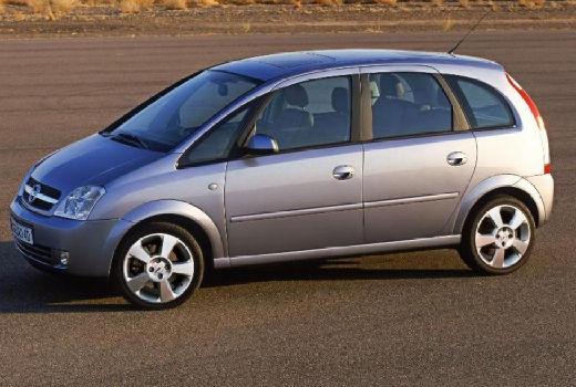 OPEL Meriva II hatchback silver grey przedni lewy