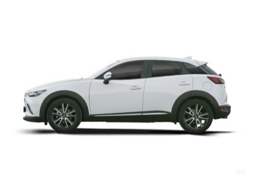 MAZDA CX-3 hatchback biały boczny lewy