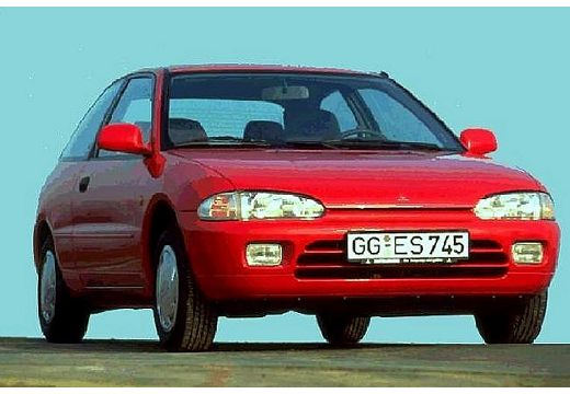 MITSUBISHI Colt hatchback czerwony jasny przedni prawy