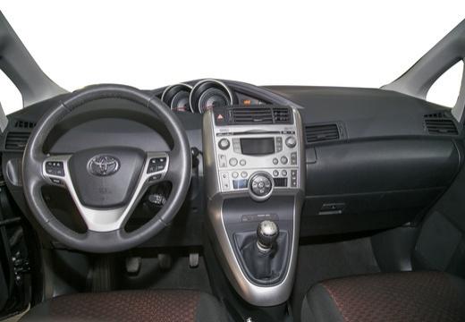 Toyota Verso I kombi mpv czarny tablica rozdzielcza