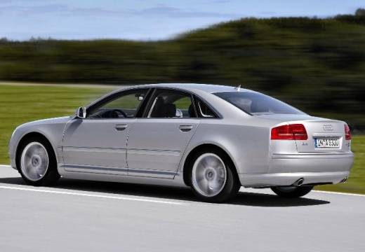 AUDI A8 4E II sedan silver grey tylny lewy