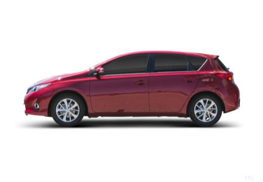 Toyota Auris I hatchback czerwony jasny boczny lewy