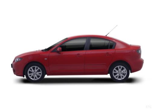 MAZDA 3 II sedan czerwony jasny boczny lewy