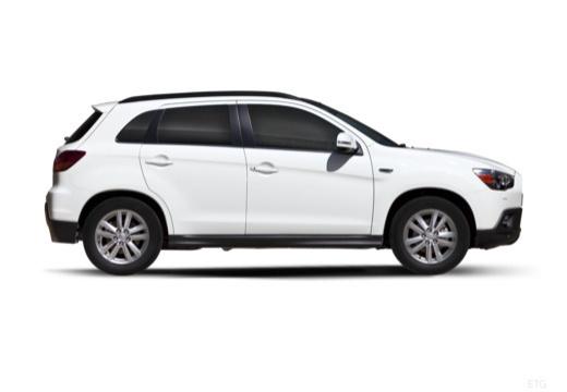 MITSUBISHI ASX I hatchback biały boczny prawy