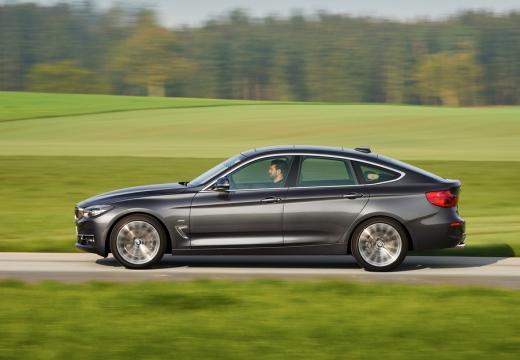 BMW Seria 3 Gran Turismo F34 II hatchback silver grey boczny lewy