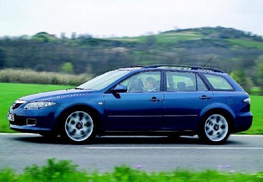 MAZDA 6 Sport II kombi niebieski jasny boczny lewy