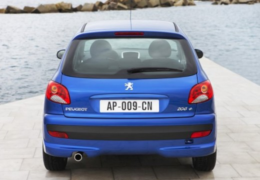 PEUGEOT 206+ hatchback niebieski jasny tylny