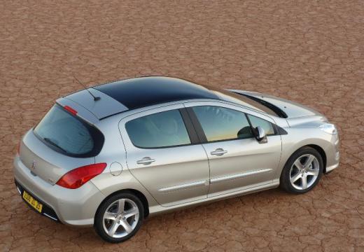 PEUGEOT 308 I hatchback silver grey tylny prawy