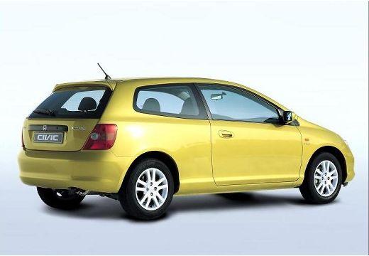 HONDA Civic IV hatchback żółty tylny prawy