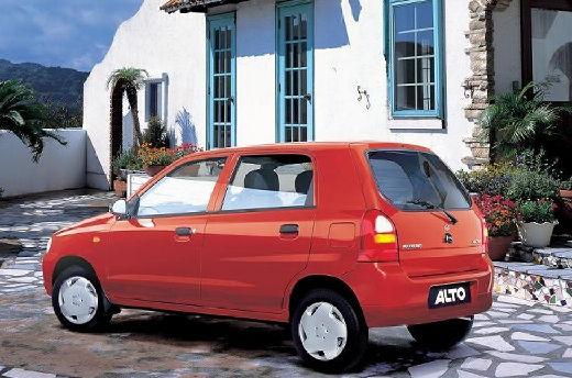 SUZUKI Alto hatchback czerwony jasny tylny lewy