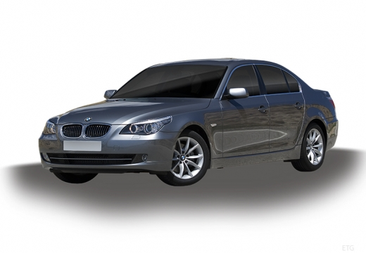 BMW Seria 5 E60 II sedan silver grey