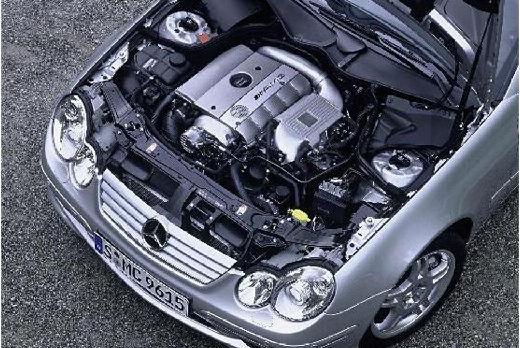 MERCEDES-BENZ Klasa C Sport CL203 I coupe silver grey silnik
