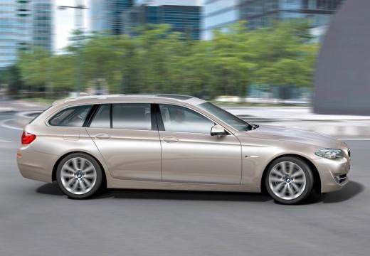 BMW Seria 5 Touring F11 I kombi silver grey boczny prawy