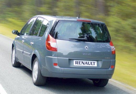 RENAULT Scenic II Grand II kombi mpv silver grey tylny lewy