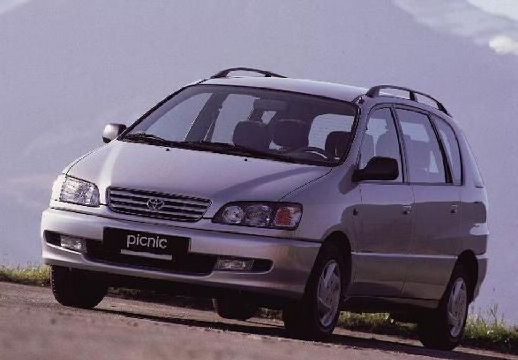 Toyota Picnic van silver grey przedni lewy