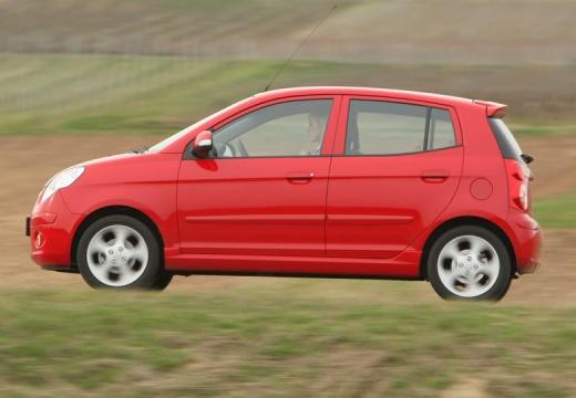 KIA Picanto II hatchback czerwony jasny boczny lewy
