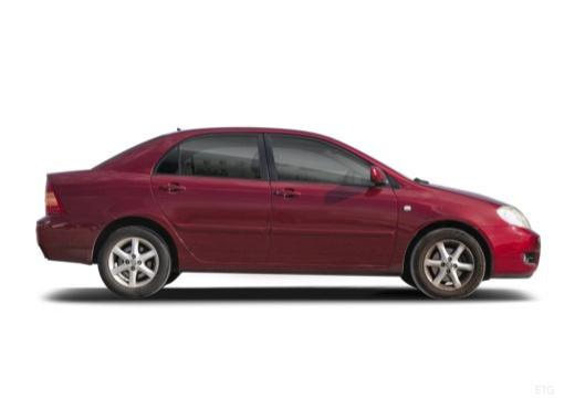 Toyota Corolla VII sedan czerwony jasny boczny prawy